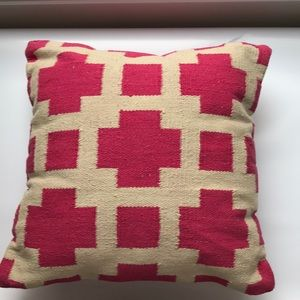 "NWT 18"" Kilim pillow"